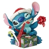 Jim Shore Enesco Disney Traditions Santa Stitch Wrapping Present