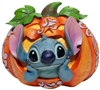 "Jim Shore Enesco Disney Traditions Stitch in Jack O'Lantern 5"" High"
