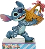 "Jim Shore Enesco Disney Traditions Stitch Running With Easter Basket 5.75"" H"