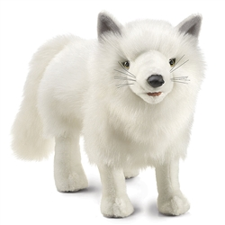 "Arctic Fox Puppet 24"" L with tail"