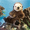 "Baby Sea Otter Puppet 12"" L"
