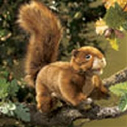"Red Squirrel Puppet 12"" L"