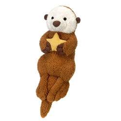 "Sea Otter Holding Star 35"" Long"