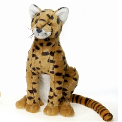 "Serval Sitting by Fiesta Toy 12"" High"