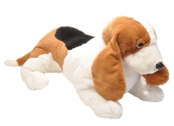 "Basset Hound Laying Dog Jumbo Cuddlekins 12"" L"