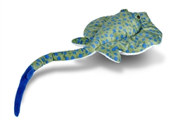 "Blue Spotted Ray Cuddlekin 12"" Wide"