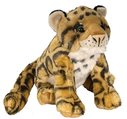 "Clouded Leopard Cuddlekins Plush Toy 10"" High"