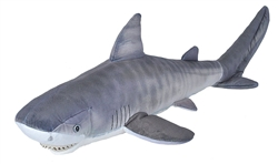 "Tiger Shark Plush Toy  27"" Long"