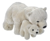 "Mom and Baby Polar Bear Plush Toy 13.5"" L"