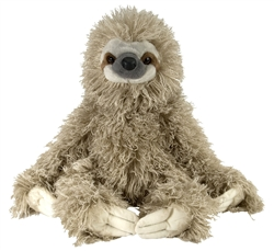 Three Toed Sloth Cuddlekins Plush 12""