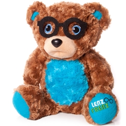 "Big Blue Teddy Glasses Holder 15""h"