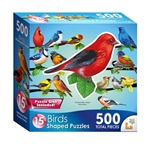 Song Birds II 15 Mini Shaped Puzzles  500 Piece Total by Lafayette Puzzle Company