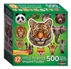 Wild Animals  12  Mini Shaped Puzzles  500 Piece Total by Lafayette Puzzle Company
