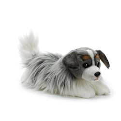 "Australian Shepherd Plush Dog 12"" L from Nat & Jules Collection"