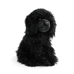 "Black Poodle Plush Dog by Nat & Jules  9"" Long"