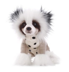"Chinese Crested Plush Dog 11.5"" L from Nat & Jules Collection"