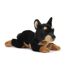 "Doberman Pinscher Plush Dog 14"" L from Nat & Jules Collection"