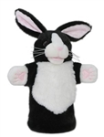 Black and White Rabbit CarPets Puppet