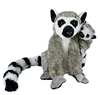 "Ring Tail Lemur wtih Baby 10"" H"
