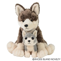 "Wolf wtih Baby 12"" H"