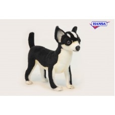 "Black and White Chihuahua 10""h"