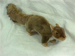 "Brown Squirrel Plush Toy 12"" Long without tail"