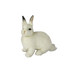 "White Bunny Rabbit Plush Toy by Hansa 11"" H"