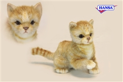 "Ginger Kitten - Orange Tabby Kitten Cat 7"" High"