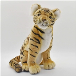 "Hansa Tiger Cub Sitting 12"" H"