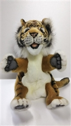 "Plush Tiger Puppet by Hansa 9"" H"