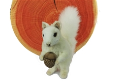 "White Squirrel with Nut Plush Toy by Hansa 7"" H"