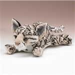 "Clouded Leopard Lying Plush Toy 14"" L"