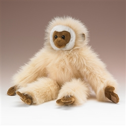 "White Handed Gibbon Plush Toy 17"" H"