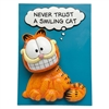 "Never Trust a Smiling Cat Bobble Plaque 7""h"