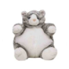 Grey Tabby Cat Plumpee (Medium)