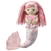Pink Mermaid with Dolphin