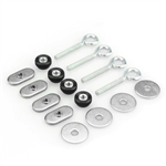 T-Track Eyebolts, Thumbnuts, Fender Washers, and Track Nuts for use with Random RC's T-Track adjustable mounting system