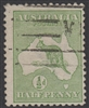 Kangaroo stamp SG 1  First watermark ½d green