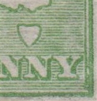 Kangaroo flaw ACSC 1(2)l Excess colour in bottom right corner SG 1 variety First watermark ½d green