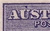 "Kangaroo flaw ACSC 9(2)p Colour spot over ""U"" of ""AUSTRALIA"" SG 4 variety MNG First watermark die II 2½d"
