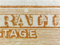 "Kangaroo flaw ACSC 16(U)f  White flaw over ""AL"" of ""AUSTRALIA"" 5d Five Pence listed variety"