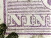 "Kangaroo flaw 26(2)e 2L4 Break in bottom inner frame under ""NI"" of ""NINE"" 9d Nine Pence 3rd Watermark SG 39 listed variety"