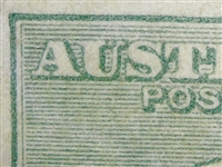 "Kangaroo flaw ACSC 33(4)g 4L10 Colour flaw on top right of ""U"" of ""AUSTRALIA"" SG 40b variety Third watermark 1/- die IIB"
