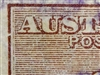 "Kangaroo flaw ACSC 38(2)m 2R30 Break in left frame opposite base of ""A"" in ""AUSTRALIA"" 2/- Two Shillings 3rd Watermark SG 74 listed variety"