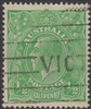 KGV SG 20 BW ACSC 63E 1915-20 ½d deep bright green