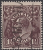 KGV SG 58 BW ACSC 83 1918 1½d Three Halfpence black-brown