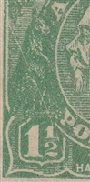 KGV SG 61 BW ACSC 88(12)k listed flaw 12R6 1½d green
