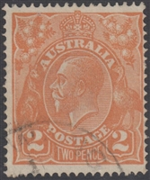 KGV SG 62 BW ACSC 95 2d two Pence orange King George V Australia