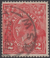 KGV SG 63 BW ACSC 96 1922 2d Two Pence Rose-scarlet