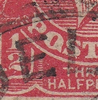 KGV SG 77 BW ACSC 89(22)t listed flaw 22R45 1½d red